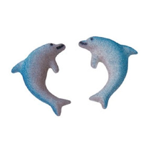 Lucks Dec-Ons Decorations Molded Sugar/Cup-Cake Topper, Dolphins Assortment, 1.25 Inch, 150 Count - Dolphin Cupcake Decorations