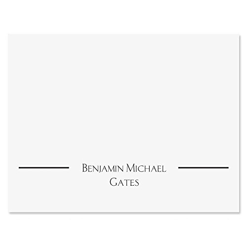 Elegant Personalized Note Cards (Set of 12 Cards with White Envelopes) by Colorful Images
