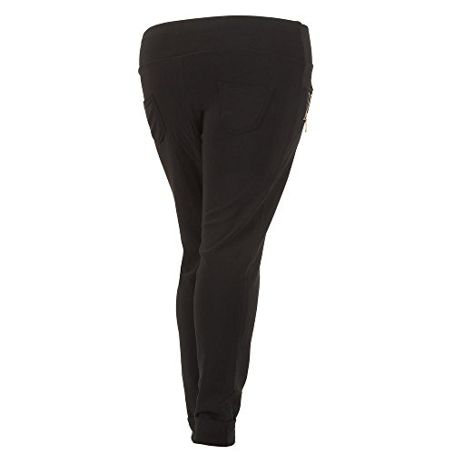 Plus Size Treggings Skinny Hose Für Damen , Schwarz In Gr. 3Xl/4Xl bei Ital-Design