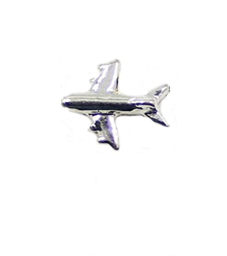 Cherityne Silver Airplane Floating Charm for Locket Pendants (Airplane Floating Locket Charm)