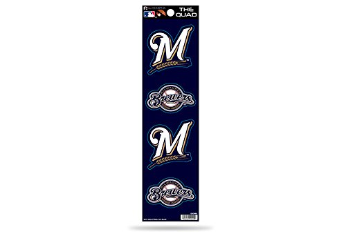 (MLB Milwaukee Brewers Quad Decal)