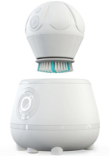 TAO Clean Orbital Facial Cleansing Brush & Cleaning Station, Super Nova White -
