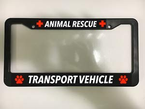 - Billion_Store Animal Rescue Transport Dog CAT Paws SHELTER Pets Black License Plate Frame New Cool Tuning