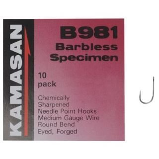 all sizes available KAMASAN B981 EYED BARBLESS HOOKS