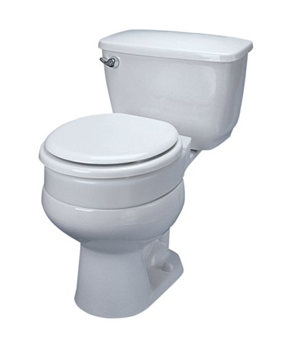 Ableware Hinged Elevated Toilet Seat, Elongated by Maddak Inc. (Image #1)