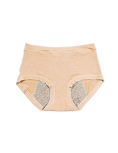 Legou Women Menstrual Period Physiological Leakproof Panties Briefs Underwear Pant One Size Nude