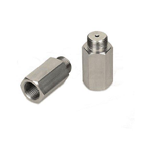 Stainless Steel Jzz Cozma CEL Check Engine Light 180 Degree O2 Sensor Socket Real Catalytic Converter Inside
