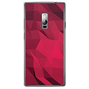 Loud Universe OnePlus 2 Geometrical Printing Files A Geo 36 Printed Transparent Edge Case - Pink