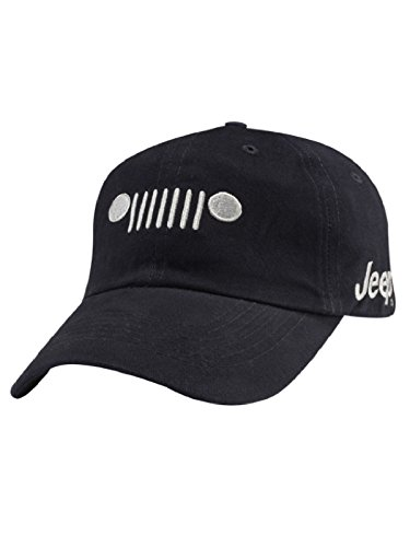 Jeep Grill Cotton Twill Cap, Navy, Adjustable (Gray Jeep Hat)