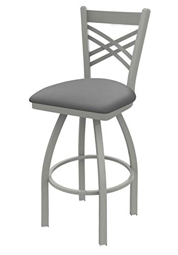Holland Bar Stool Co. 82030AN007 820 Catalina Bar Stool, 30 Seat Height, Canter Folkstone Grey