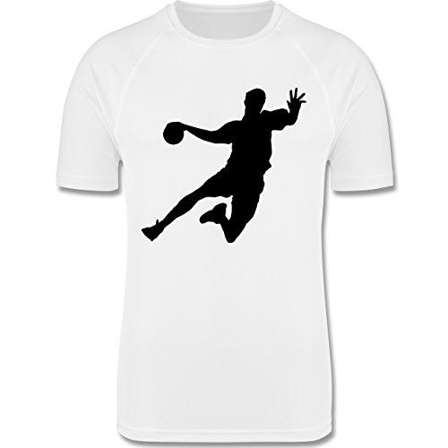 Sport Kind - Handball - 140 (9-11 Jahre) - Weiß - F350K - atmungsaktives Laufshirt / Funktionsshirt für Mädchen und Jungen