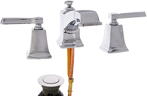 Arc Widespread Bath Faucet (Moen WS84820 Two-Handle Low Arc Bathroom Faucet, Chrome)