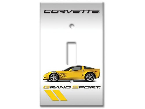(Corvette Yellow Grand Sport Coupe Switchplate Single)