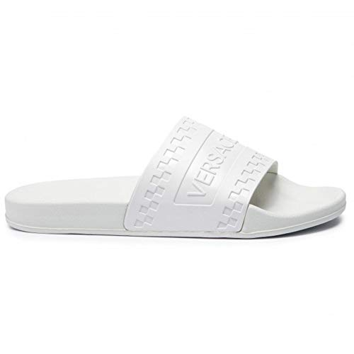 ebaca9aedd51 Versace Jeans Men s Thong Sandals White White