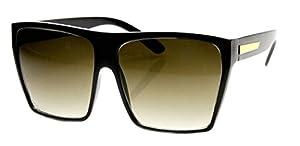 WebDeals - Square Flat Top Sunglasses Oversize Retro Designer Frame…