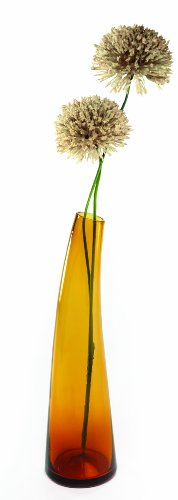 Glass Contemporary Vases - Contemporary Glass Bud Vase - Single Stem - Amber