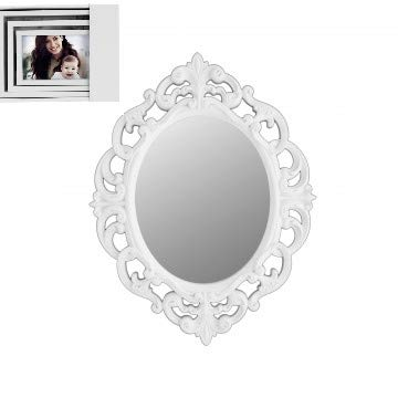 Amazon.com: White Oval Vintage Wall Mirror with Additional Set of 3 ...