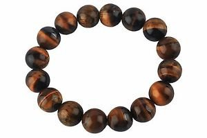 - CRYSTALMIRACLE Powerful Tigers Eye Beaded round Bracelet crystal healing Wellness fashion Jewelry Protective Lucky men women Gift prosperity peace of mind fear health success handcrafted accessory