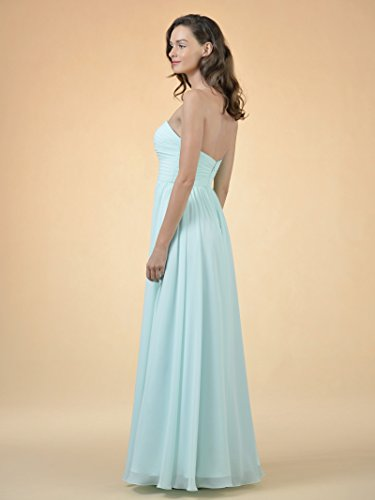 Blue Long Party with Gown Women's Split Dress Chiffon Evening Alicepub Royal Strapless Bridesmaid Dress wORHAx