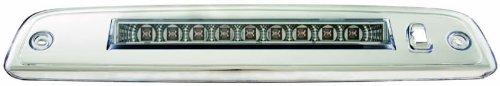 (IPCW LED3-517C Crystal Clear Black LED Third Brake Light with Chrome Base - 1 Piece )