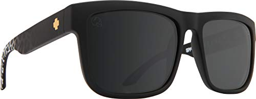 Spy Optic Discord Polarized Flat Sunglasses (SLAYco Matte Black Leopard Fade - Happy Gray Green W/silver) (Spy Optic Discord)