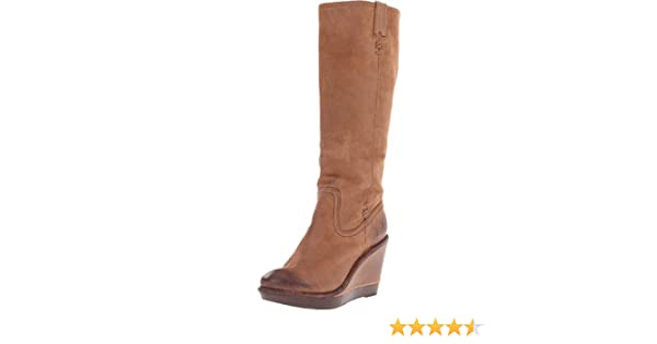 f6aea1a5d62 Amazon.com  FRYE Women s Paige Wedge X Stitch Boot