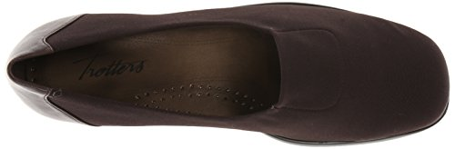 Black US Kid Dark Burnished Jake Flat Women's Trotters N Leather 6 Brown Stretch Cnq6x6tSZ