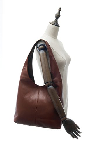 Shoulder Slouch Montte Grey Bag Women Leather Jinne 100 for Di Soft Italian Gift Dark w0RUqw