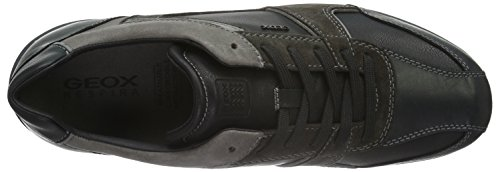 Trainers 9 B Mens U Shoes Leather Black Pavel Geox znFR4qOwUx