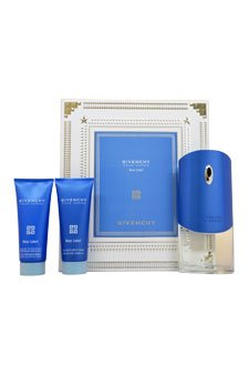 - Givenchy Pour Homme Blue Label by Givenchy for Men 3 Piece Set Includes: 3.3 oz Eau de Toilette Spray + 2.5 oz After Shave Moisturizing Balm Alcohol-Free + 2.5 oz Hair and Body Shower Gel