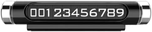 Tivollyff 車の一時駐車カードすべての車の付属品のための普遍的な明るい回転可能な創造的な電話番号プレート