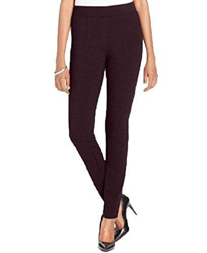 Jenni Style & Co. Petite Stretch Seam-Front Ponte Leggings (Dried Plum, Large Petite)