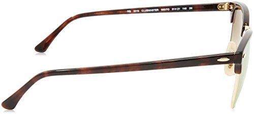 Multicolor mujer Havana Rojo sol 7o RB Transparente Vidrio 990 Marrón Gafas Marco 2156 Ban de para Ray 41w08qn