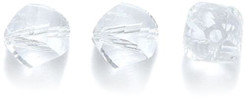 Swarovski 5020 Helix Beads, Transparent Finish, 8mm, Crystal, 9-Pack