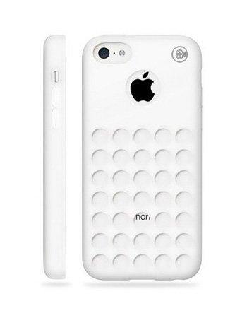 Coque pour iPhone 5C Motif, osurce iPhone 5C Cas–Blanc iPhone 5C Étui Peau Souple pour le nouvel iPhone 5C, pois trous–Coque–Peau Housse–Blanc