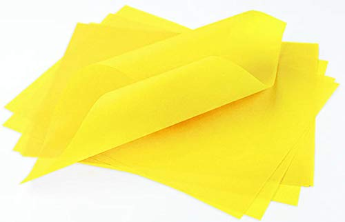 Yellow Vellum - Canary Yellow Translucent Vellum - 11 x 17, 30lb Colors Transparent, 100 Pack