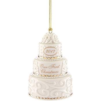 Amazon.com: Lenox 2017 Our 1st Christmas Together Wedding Cake ...