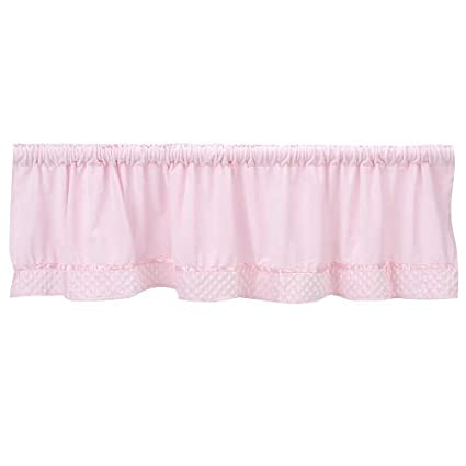 Baby Doll Bedding Heavenly Soft Window Valance, Pink 8000v