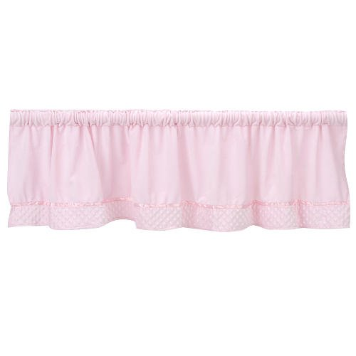 Baby Doll Bedding Heavenly Soft Window Valance, Pink by BabyDoll Bedding