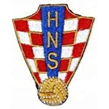 CROATIA HNS LOGO FIFA SOCCER WORLD CUP IRON-ON PATCH CREST BADGE 2.5 X 2 INCH