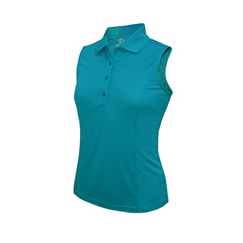 Monterey Club Dry Swing Medium Weight Pique Sleeveless Solid Shirt #2368 (Algiers Blue, 2X-Large)