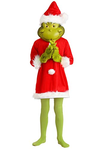The Grinch Santa Deluxe Kids Costume with Mask Small/Medium]()