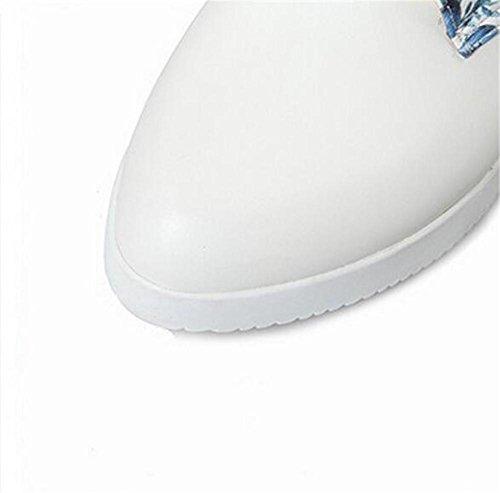 de Mujer Goma Suela 40 Gruesa la Resistente de del 42 con al Puntera de Desgaste Zapatos Correa BLUE Redonda XIE Green la fiat RqSaI6nvE