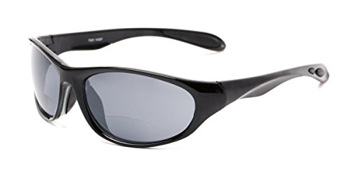 - Readers.com | The Zeek Bifocal Reading Sunglasses +1.00 Glossy Black with Grey Sport & Wrap-Around Men's & Women's Full Frame
