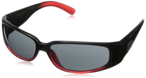 Black Flys Micro Fly 2 Wrap Sunglasses,Shiny Black & Red,60 - Sunglasses Fly Black