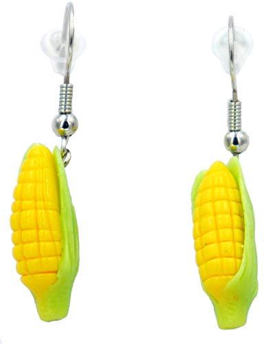 Polymer clay handmade freshly picked corn earrings