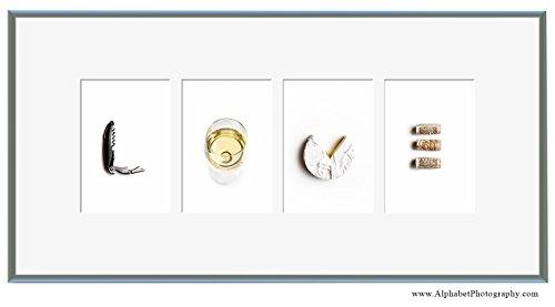 Alphabet Photography 'LOVE' Fine Art Food Line 10x21 Wine Art Kitchen Decor by Alphabet Photography