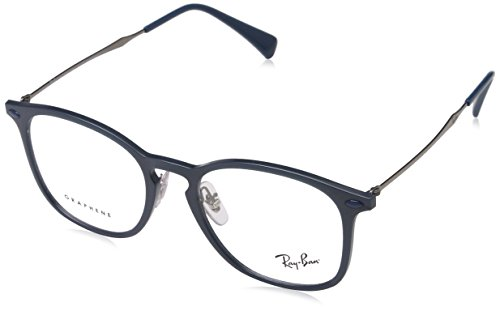 Ray-Ban Unisex 0RX8954 50mm Blue/Grey Graphene One Size (Ray Ban Eyeglasses Made In Italy)