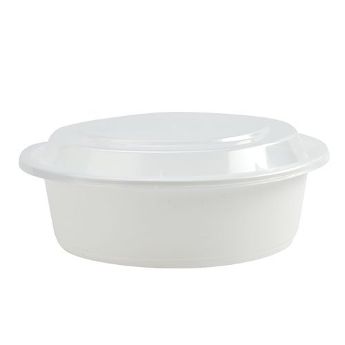 Nicole Home Collection 6 Count Round Deep Microwaveable Container with Lid, 32 oz, White