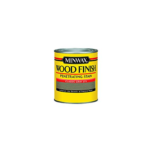 Minwax 227614444 Wood Finish Penetrating Interior Wood Stain, 1/2 pint, Classic Gray ()